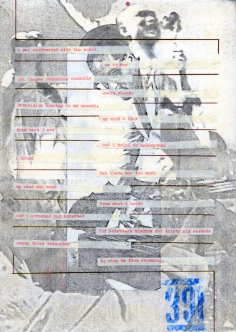 cassette booklet page