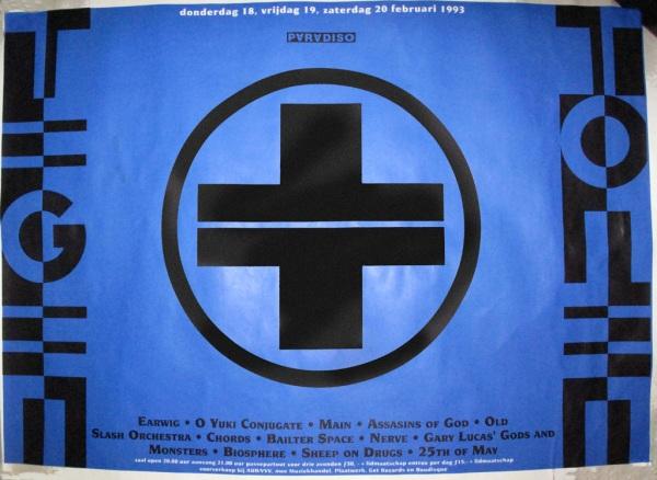 Tegentonen Festival poster, Paradiso, Amsterdam, February 1993.